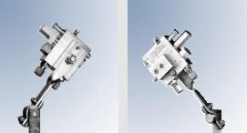 Montage mit Halter (Halter 515-31225-1) mit Düsen SDLHNR-G